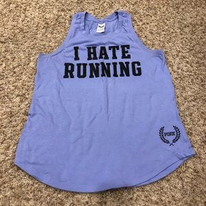 """Periwinkle VS Pink Tank """"I Hate Running"""""""